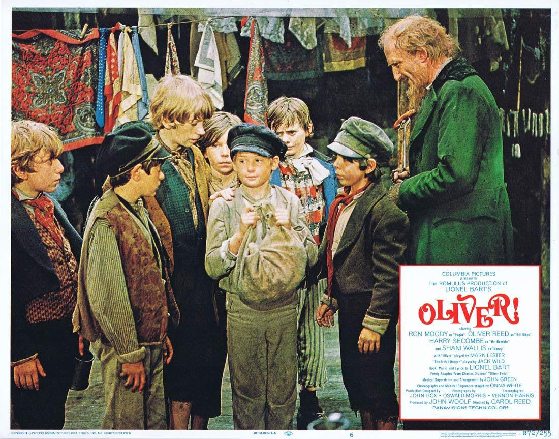 OLIVER Original Lobby Card 6 Ron Moody Shani Wallis Oliver Reed