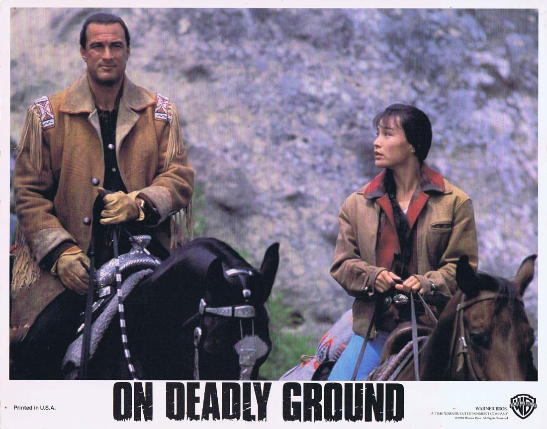ON DEADLY GROUND Original Lobby Card 2 Steven Seagal Michael Caine Joan Chen