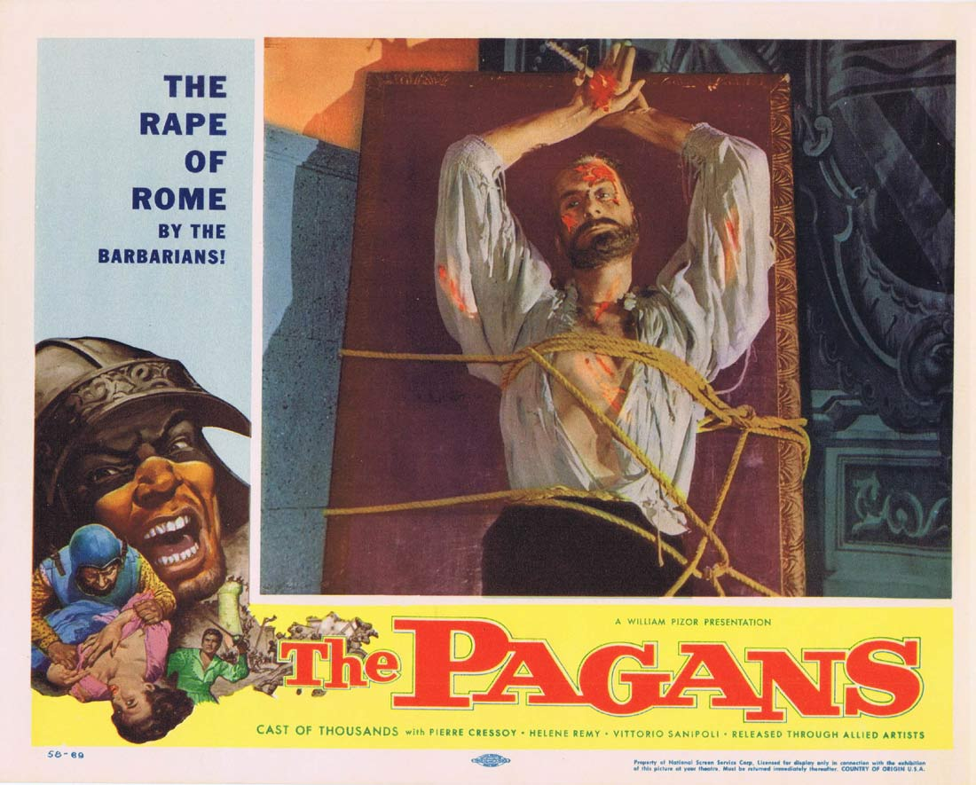 THE PAGANS Original Lobby Card 3 Pierre Cressoy Helene Remy