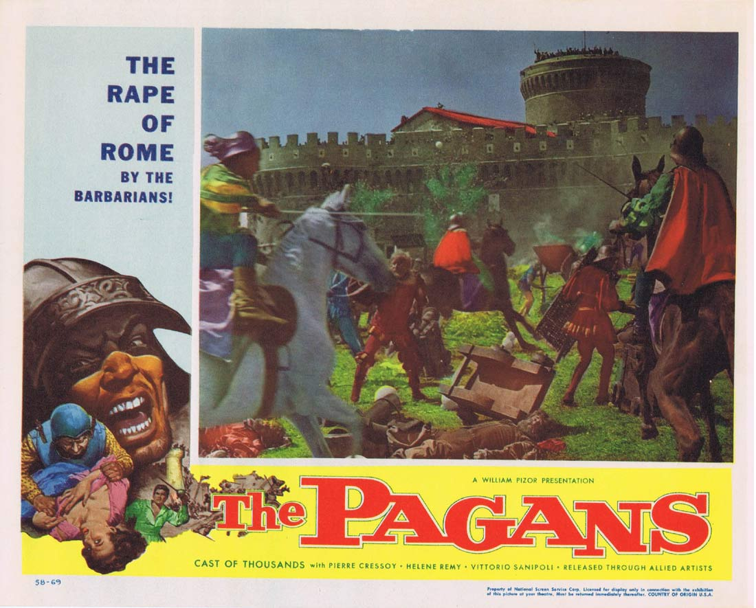THE PAGANS Original Lobby Card 4 Pierre Cressoy Helene Remy