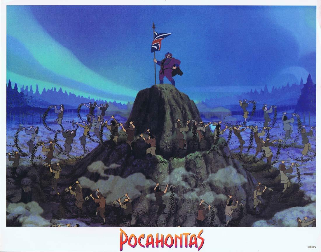 POCAHONTAS Original Lobby Card 3 Joe Baker Christian Bale Irene Bedard