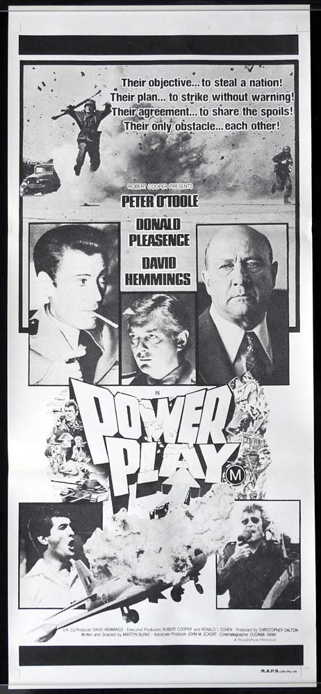 POWER PLAY Original Daybill Movie poster Peter O'Toole David Hemmings Donald Pleasence