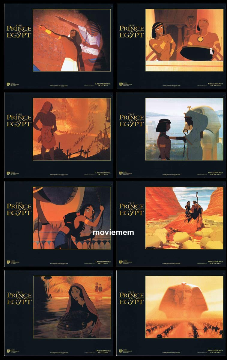 THE PRINCE OF EGYPT Original Lobby Card Set  Val Kilmer Ralph Fiennes Michelle Pfeiffer