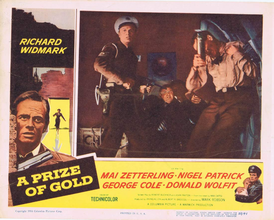 A PRIZE OF GOLD Original Lobby Card 2 Richard Widmark Mai Zetterling