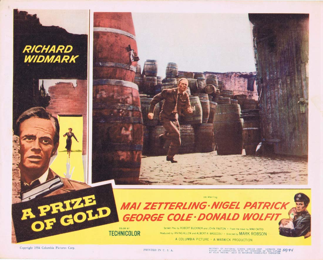 A PRIZE OF GOLD Original Lobby Card 3 Richard Widmark Mai Zetterling
