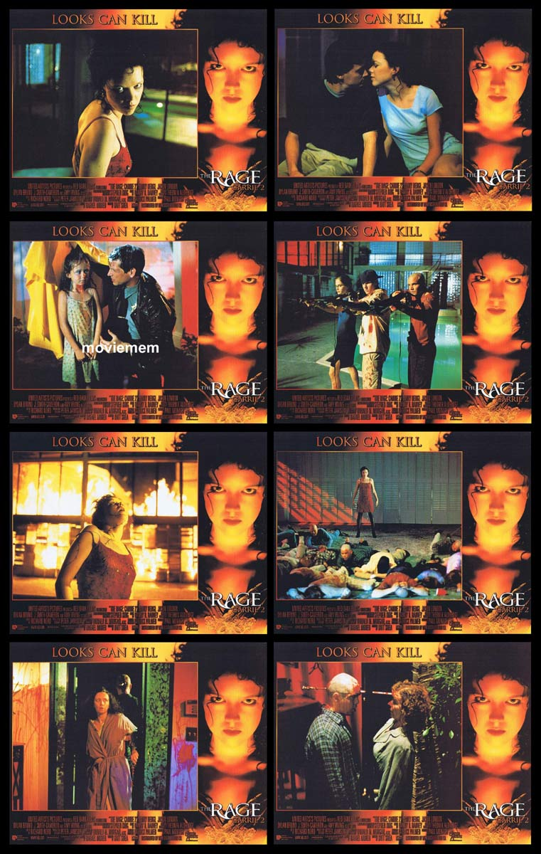 CARRIE 2 THE RAGE Original Lobby Card Set Emily Bergl Jason London