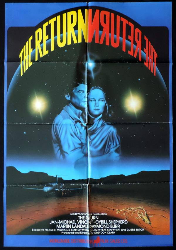 THE RETURN Original VIDEO One sheet Movie Poster Jan-Michael Vincent Cybill Shepherd