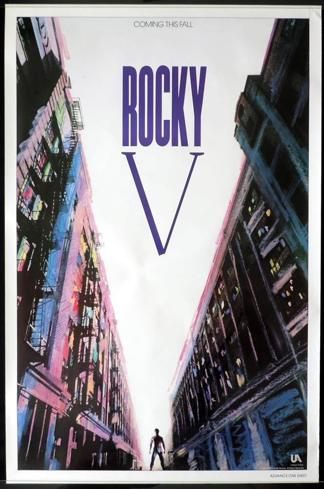 ROCKY V Original Advance One sheet Movie poster Sylvester Stallone
