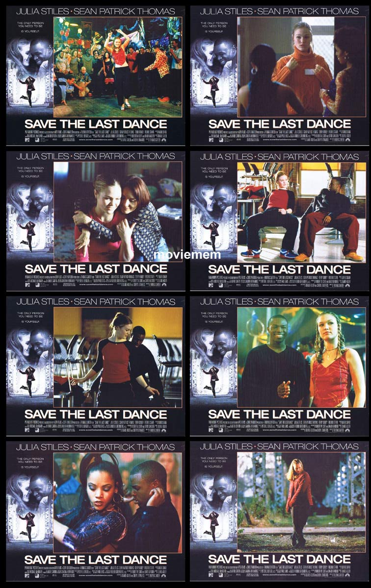SAVE THE LAST DANCE Original Lobby Card Set  Julia Stiles Sean Patrick Thomas