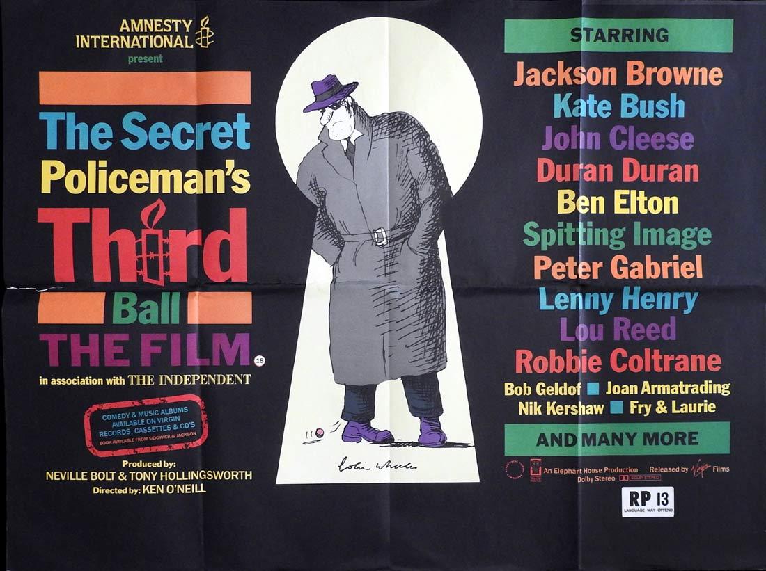 THE SECRET POLICEMAN'S THIRD BALL British Quad Movie poster Joan Armatrading  Chet Atkins