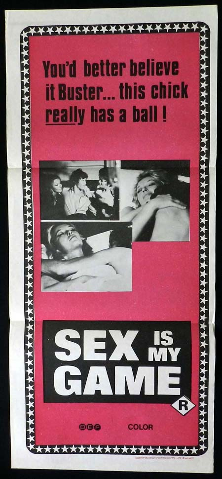 SEX IS MY GAME Daybill Movie poster Marina Vlady Renaud Verley Sexploitation