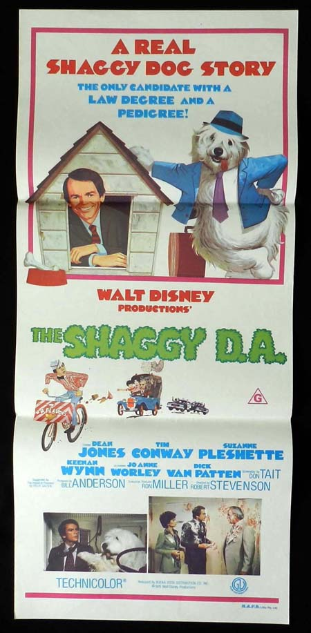 THE SHAGGY DA Original Daybill Movie Poster Dean Jones DISNEY Suzanne Pleshette