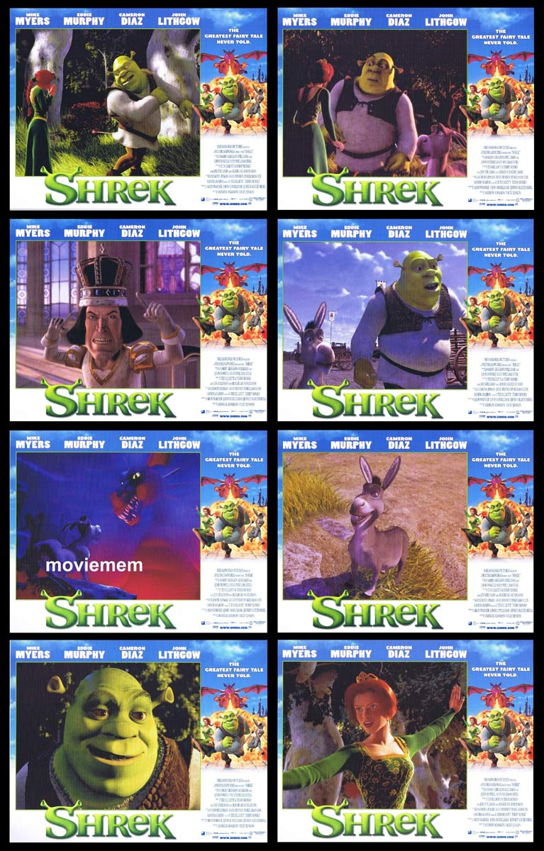 SHREK Original Lobby Card Set Mike Myers Eddie Murphy Cameron Diaz