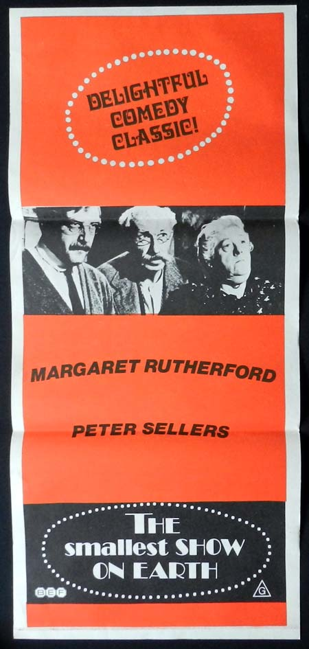 THE SMALLEST SHOW ON EARTH 72r Daybill Movie poster Virginia McKenna Bill Travers Margaret Rutherford