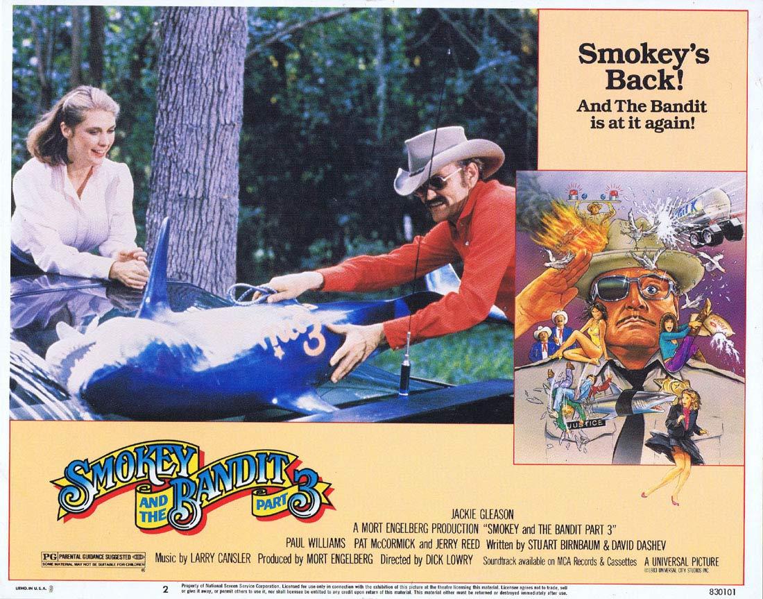 SMOKEY AND THE BANDIT PART 3 Original Lobby Card 3 Jackie Gleason