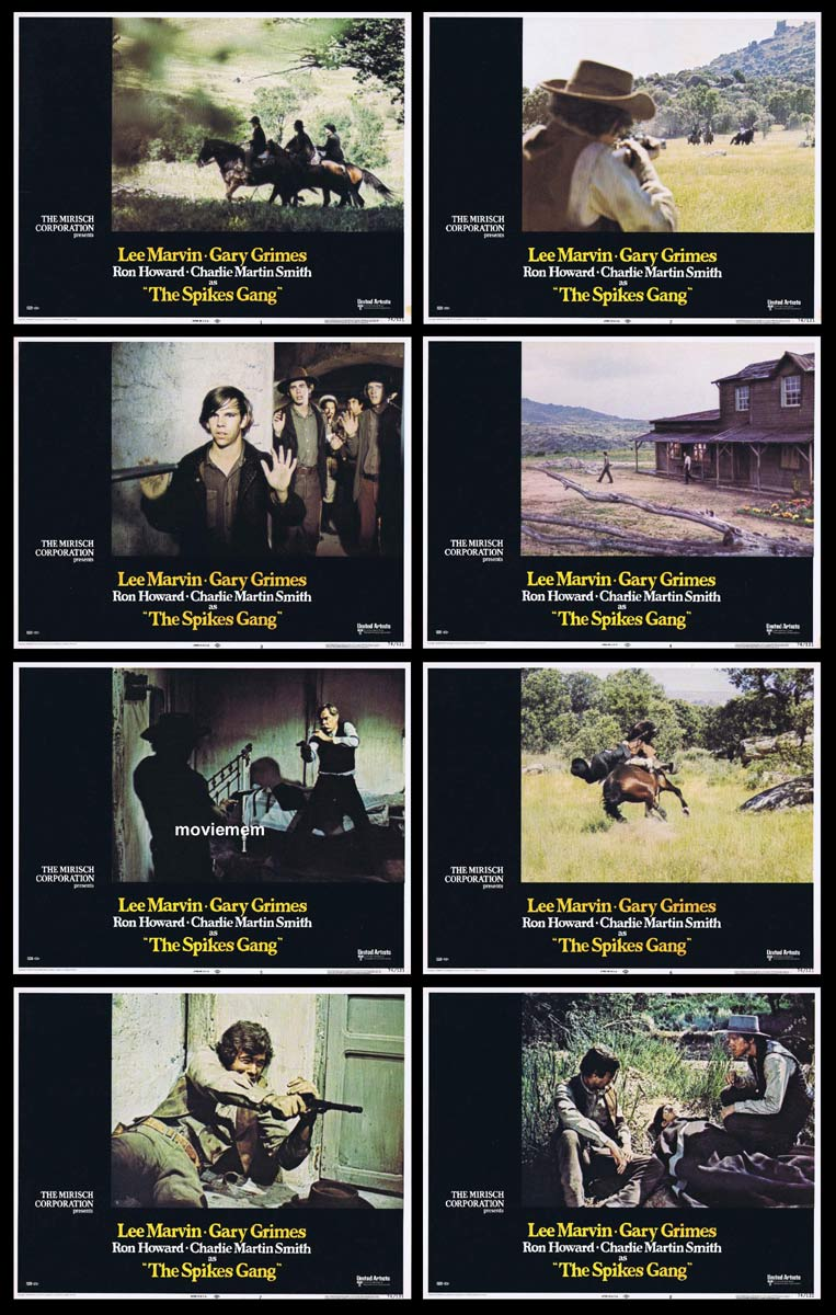 THE SPIKES GANG Original Lobby Card set Lee Marvin Gary Grimes Ron Howard
