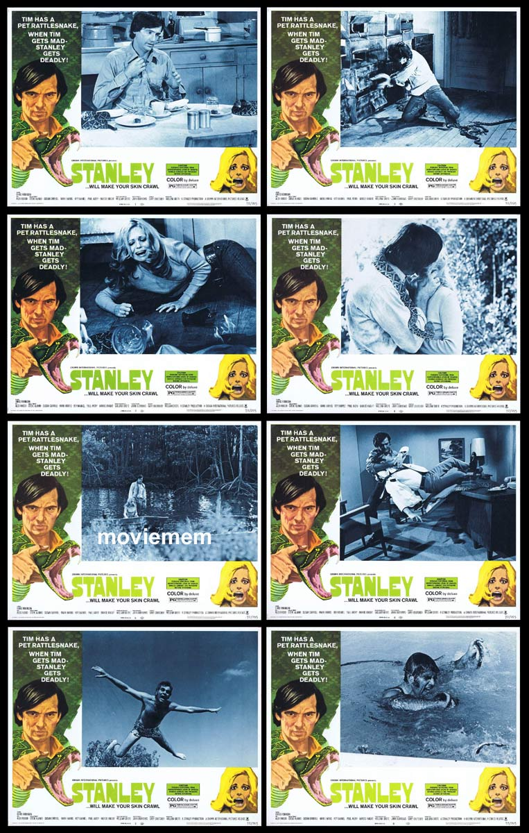 STANLEY Original Lobby Card set Chris Robinson Rattlesnake Alex Rocco