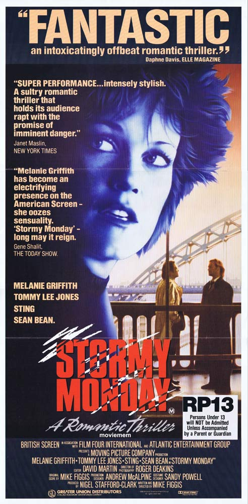 STORMY MONDAY Original daybill poster Melanie Griffith Tommy Lee Jones Sting