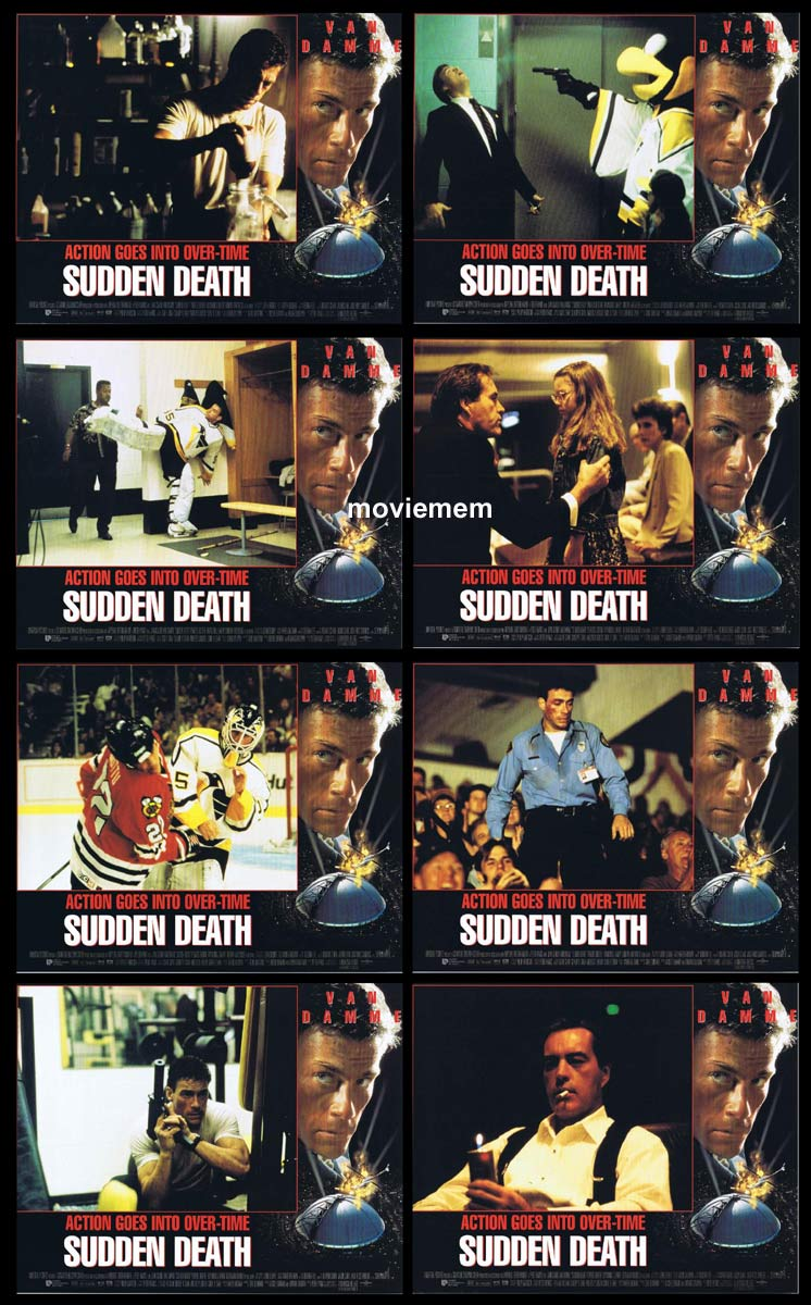 SUDDEN DEATH Original Lobby Card Set  Jean-Claude Van Damme Powers Boothe