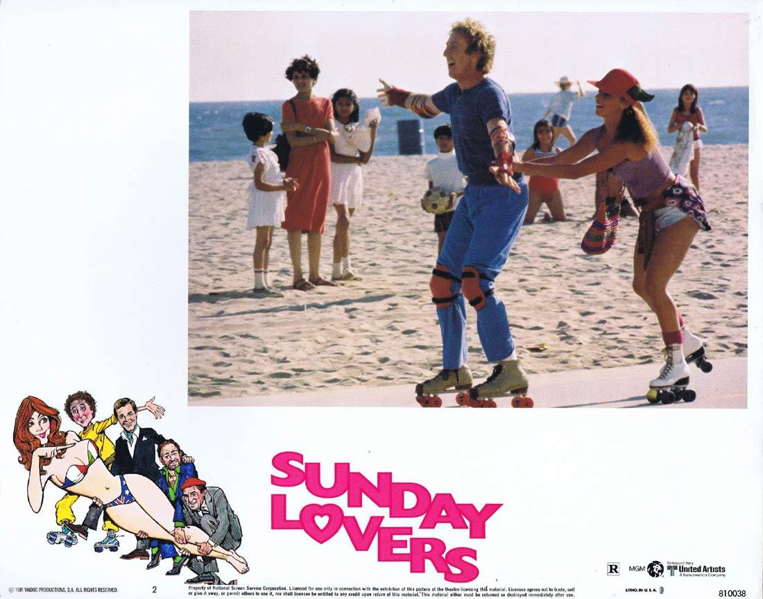 SUNDAY LOVERS Original Lobby Card 2 Roger Moore Lino Ventura