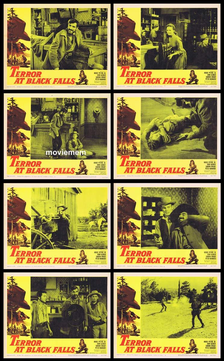 TERROR AT BLACK FALLS Original Lobby Card set Peter Mamakos House Peters Jr