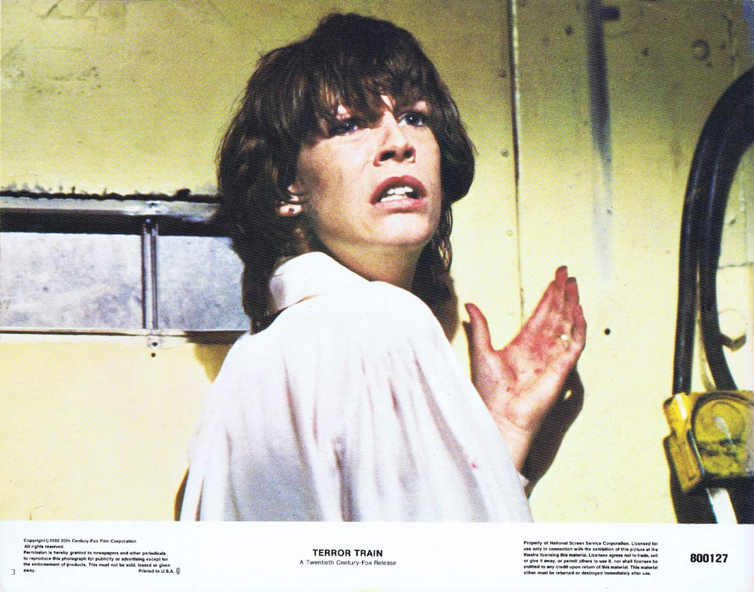 TERROR TRAIN Original Lobby Card 3 Ben Johnson Jamie Lee Curtis