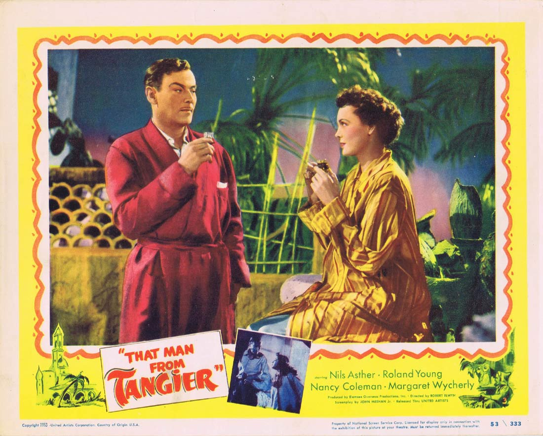 THAT MAN FROM TANGIER Original Lobby Card 3 Nils Asther Roland Young Nancy Coleman