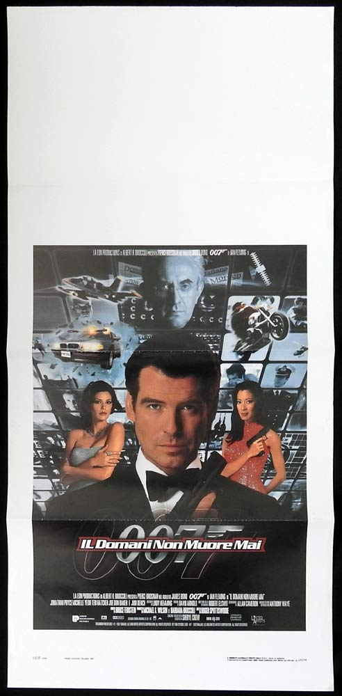 TOMORROW NEVER DIES Italian Locandina Movie poster Pierce Brosnan James Bond