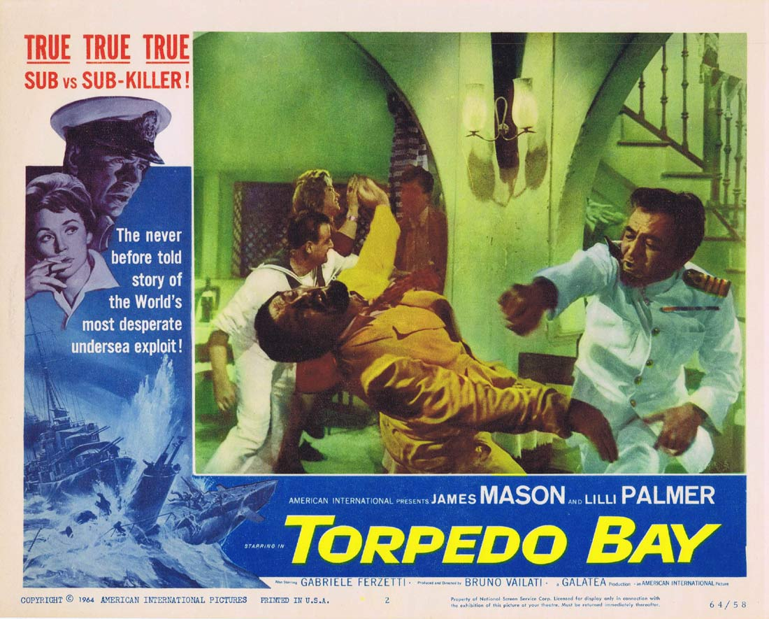TORPEDO BAY Original Lobby Card 2 Lilli Palmer James Mason