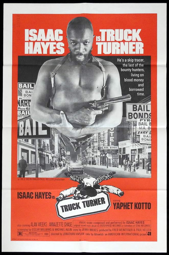 TRUCK TURNER Isaac Hayes Blaxploitation One Sheet Movie poster