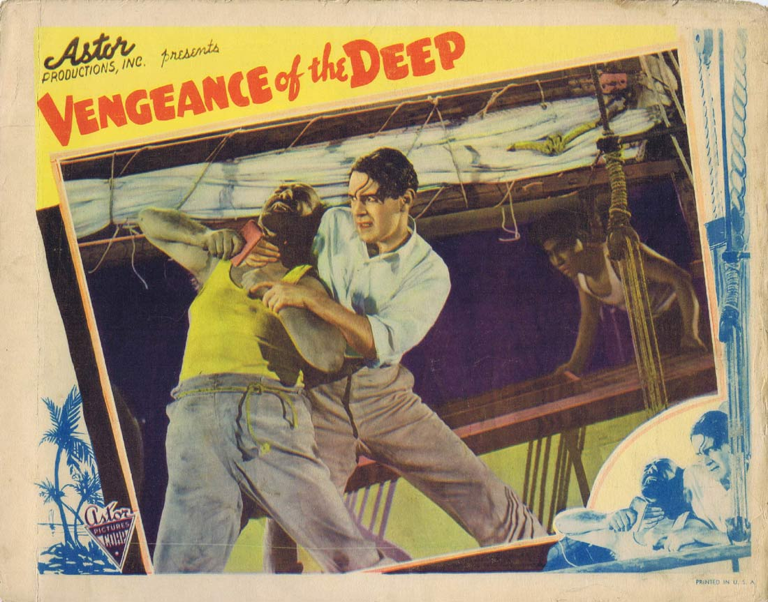 LOVERS AND LUGGERS Original Lobby Card 1 Vengeance of the Deep 1938 Ken G.Hall