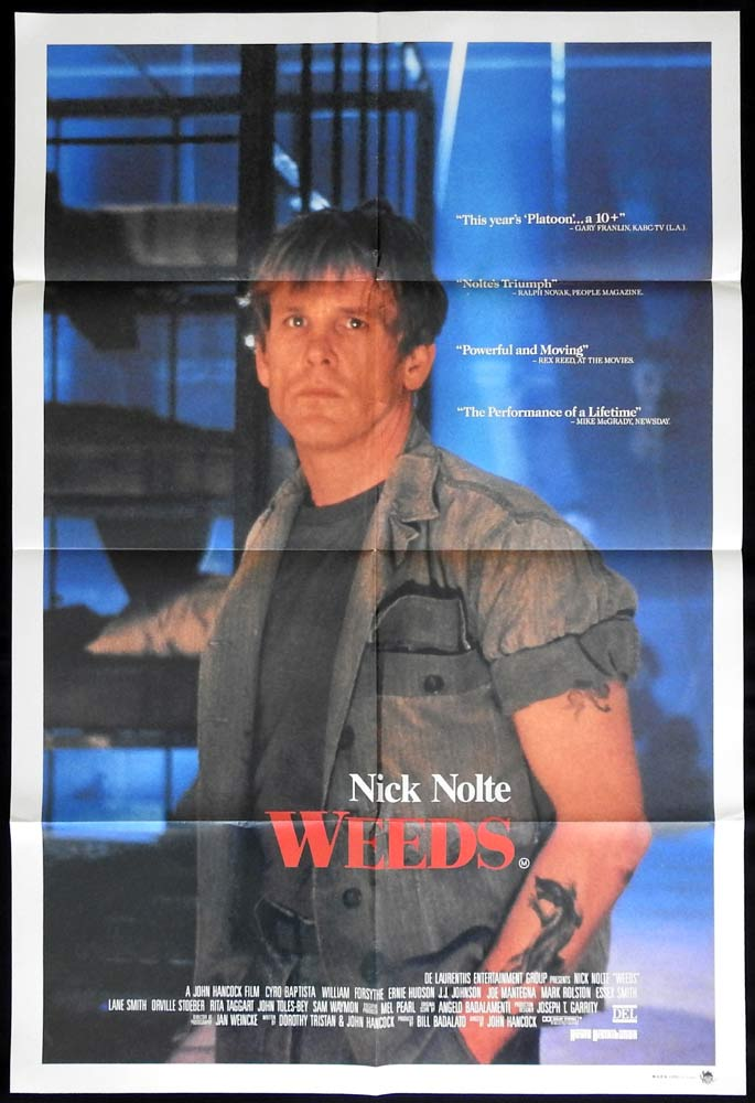 WEEDS Original US One Sheet Movie Poster Nick Nolte Ernie Hudson
