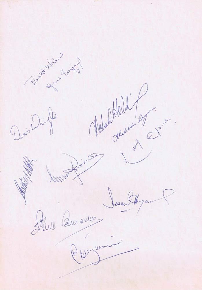 WEST INDIES Cricketers Autograph Qantas First Class Menu 1986