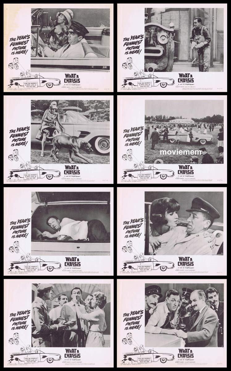 WHAT A CHASSIS Original Lobby Card set Alfred Adam Colette Brosset