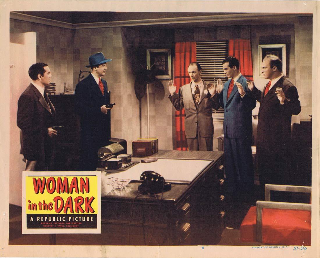 WOMAN IN THE DARK Original Lobby Card 4 Penny Edwards Film Noir Ross Elliott