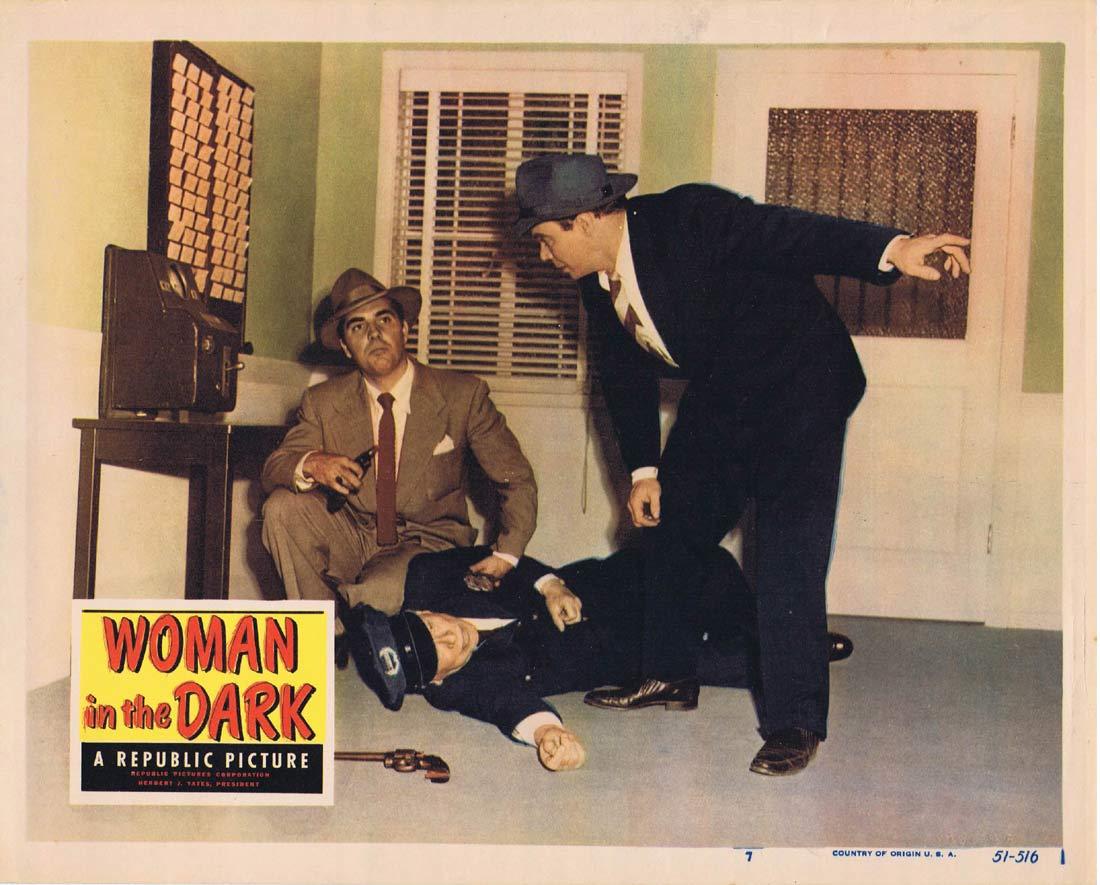 WOMAN IN THE DARK Original Lobby Card 7 Penny Edwards Film Noir Ross Elliott