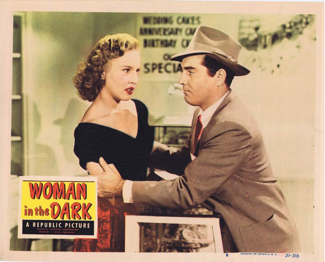 WOMAN IN THE DARK Original Lobby Card 8 Penny Edwards Film Noir Ross Elliott