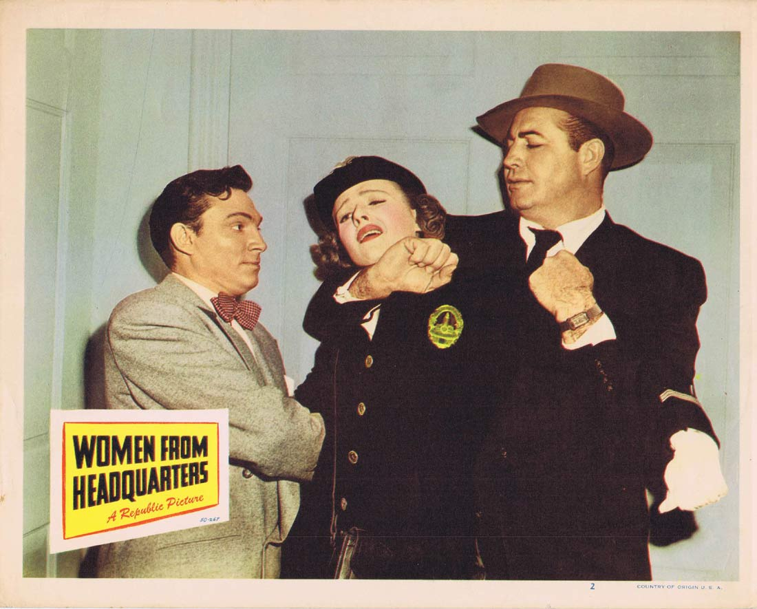 WOMEN FROM HEADQUARTERS Original Lobby Card 2 Virginia Huston Robert Rockwell