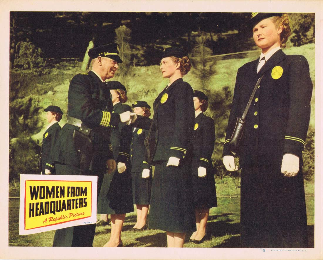 WOMEN FROM HEADQUARTERS Original Lobby Card 8 Virginia Huston Robert Rockwell