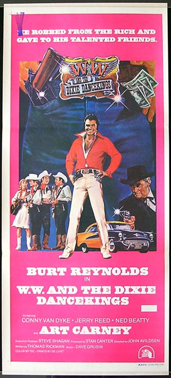 W.W. AND THE DIXIE DANCEKINGS Burt Reynolds Australian daybill Movie poster