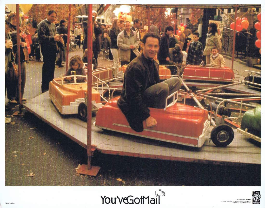 YOU'VE GOT MAIL Original Lobby Card 2 Tom Hanks Meg Ryan Greg Kinnear