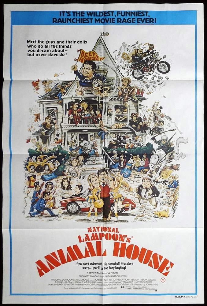 ANIMAL HOUSE Original Australian One sheet Movie Poster John Belushi