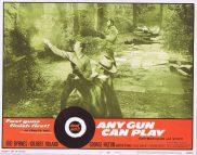 ANY GUN CAN PLAY Original Lobby Card 3 Gilbert Roland Edd Byrnes