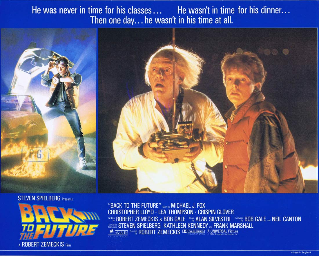 BACK TO THE FUTURE Original English Lobby Card 2 Michael J.Fox