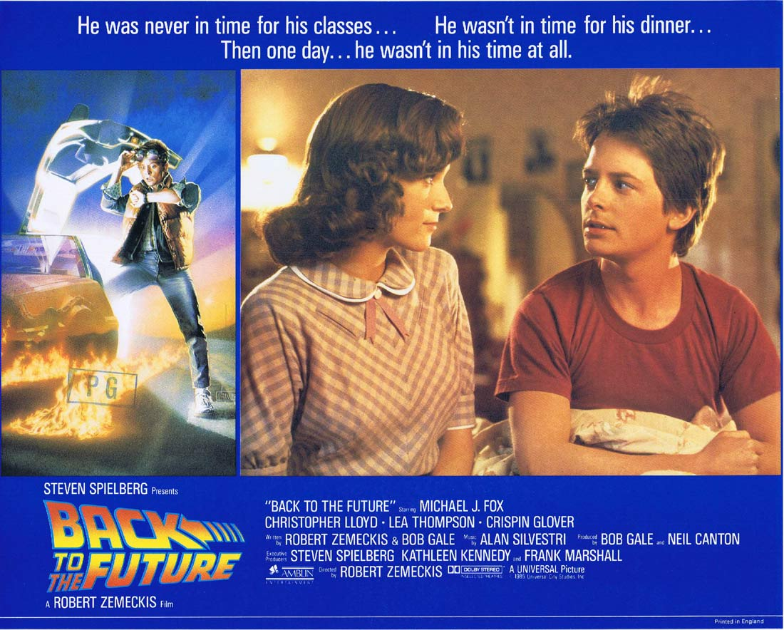 BACK TO THE FUTURE Original English Lobby Card 3 Michael J.Fox