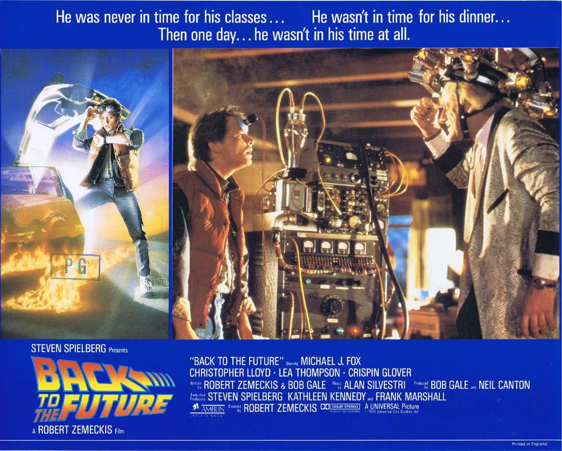 BACK TO THE FUTURE Original English Lobby Card 4 Michael J.Fox