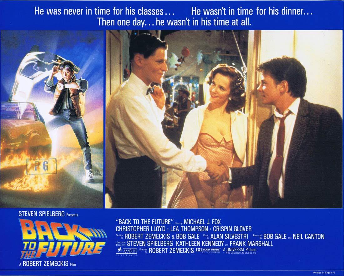 BACK TO THE FUTURE Original English Lobby Card 5 Michael J.Fox