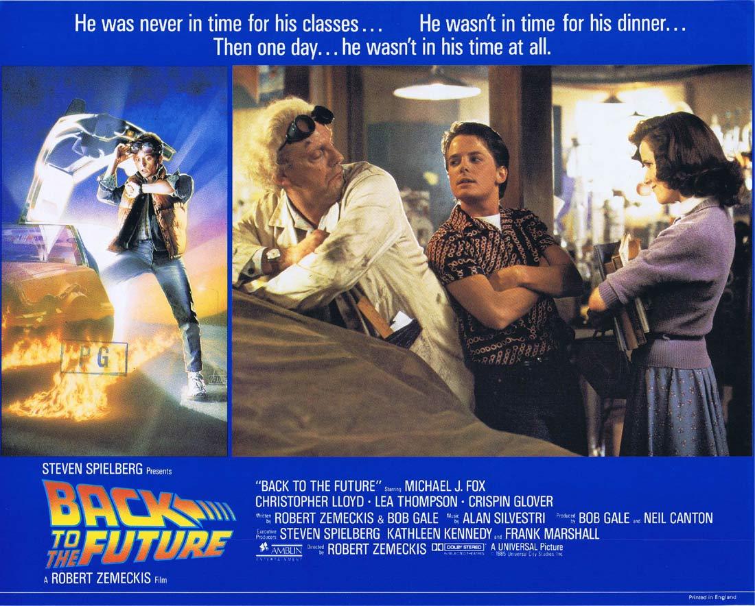 BACK TO THE FUTURE Original English Lobby Card 6 Michael J.Fox