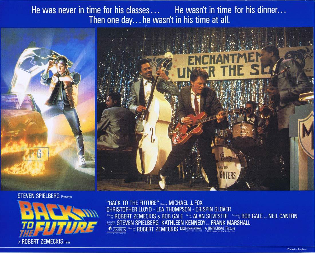 BACK TO THE FUTURE Original English Lobby Card 7 Michael J.Fox