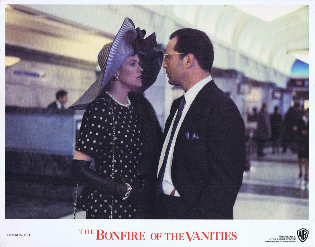 BONFIRE OF THE VANITIES Original Lobby Card Bruce Willis Melanie Griffith